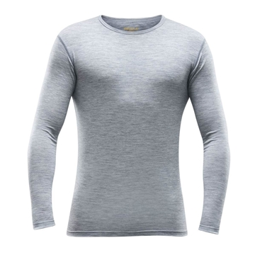 Devold Breeze Man Shirt grey melange ulltrøye