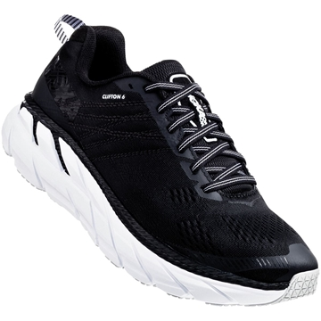 hoka one one m clifton 6 BWHT / BLACK / WHITE løp herre