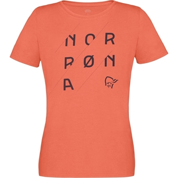 Norrøna /29 cotton slant logo t-shirt Women flamingo