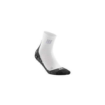 CEP GRIPTECH SHORT SOCKS MEN white kompresjonsstrømper