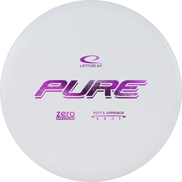 Latitude 65 ZERO MEDIUM PUTTER PURE. 173+ White frisbeegolf